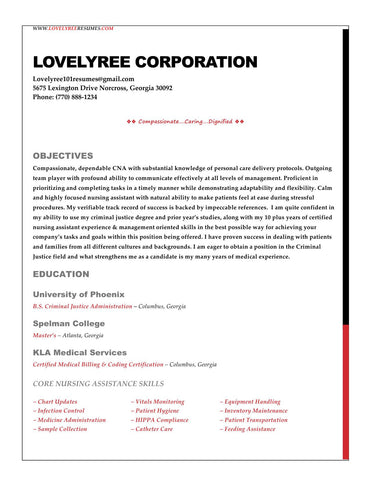 Classic Basic Resume Update  Cover Letter Combo  LovelyreeS
