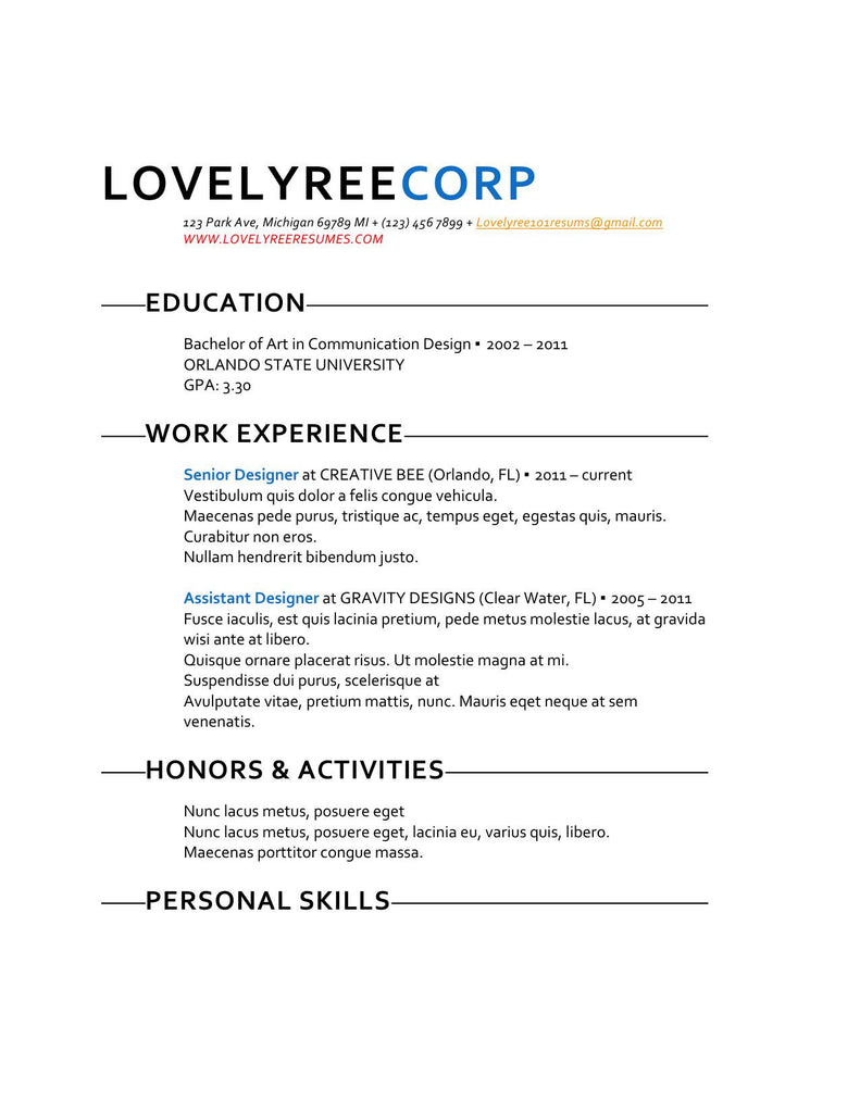 classic fresh take template with cover letter   u2013 lovelyree u0026 39 s resumes  u0026 writing services