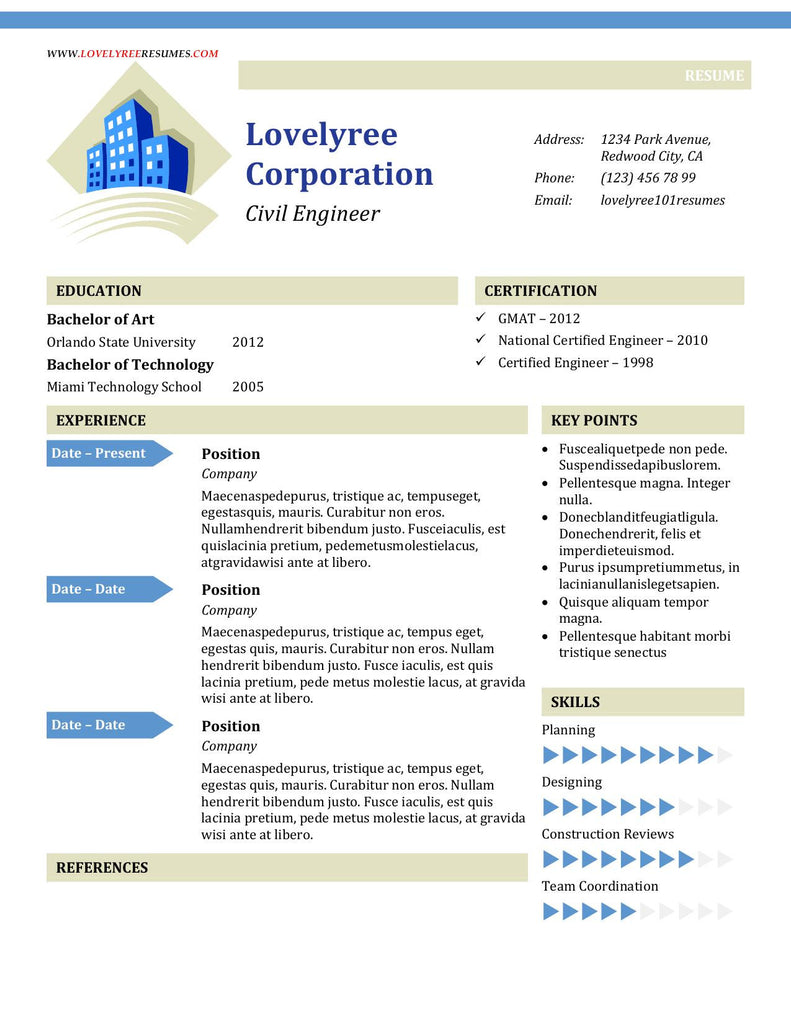 CLASSIC General Urban Resume WITH COVER LETTER!