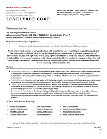 CLASSIC Executive Professional Resume WITH COVER LETTER!