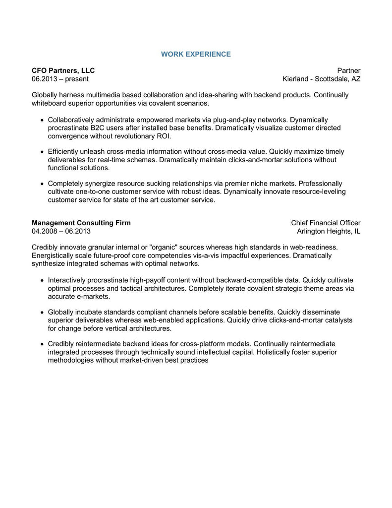 Classic Senior Management Executive Template With Cover Letter