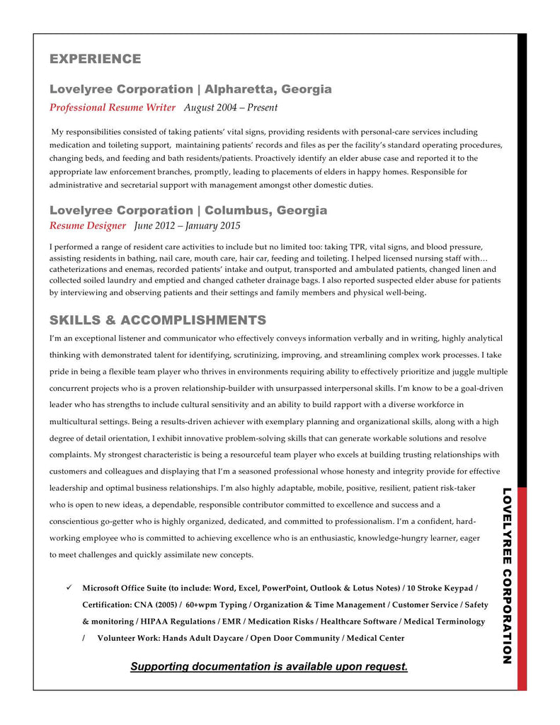 CLASSIC Basic Resume update – Lovelyree\'s Resumes & Writing Services