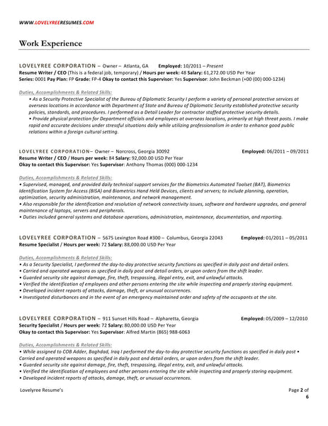 Professional resume writers executive