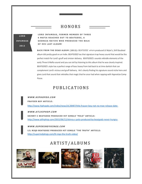 LOVELYREE Business Portfolio's and BIO's! *SAMPLE*
