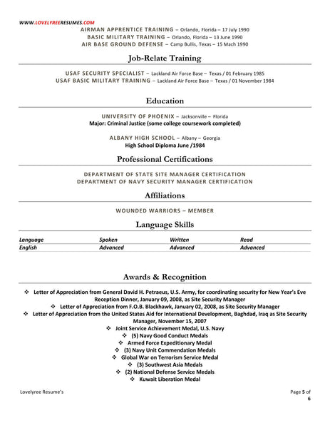 Professional executive resume writing services