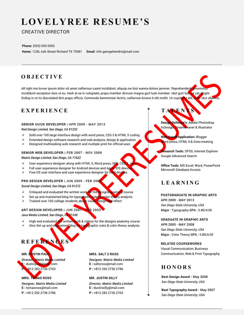 The Lexington Collection Lovelyree S Resumes Writing Services