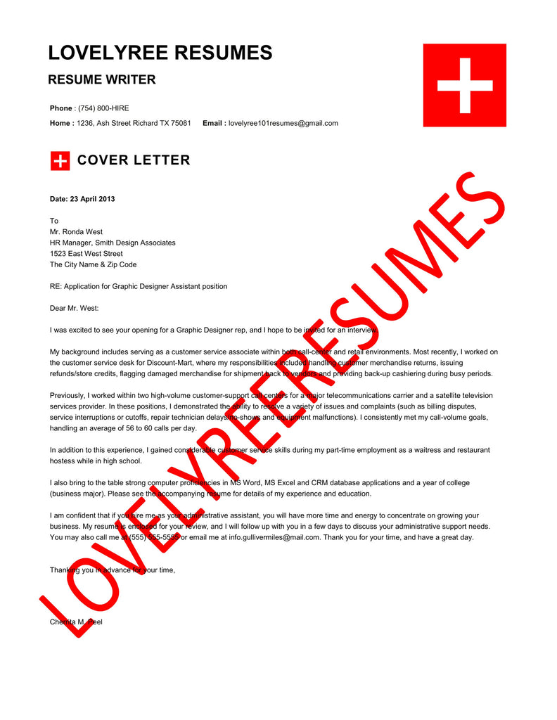 The Red Cross Collection – Lovelyree's Resumes & Writing Services