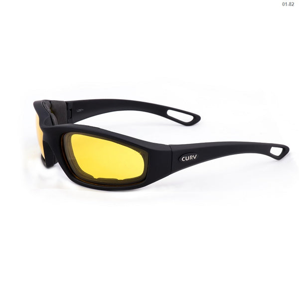 Curv Matte Soft Black Frame / Yellow Lens - EVA Foam