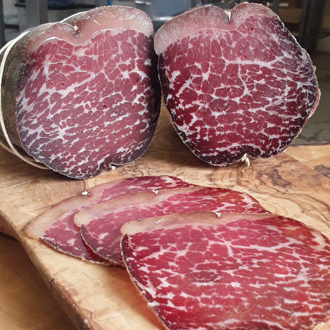 LOCALLY SOURCED BEEF BRESAOLA - 50g Pre sliced - Serves 2/3 & 500g Whole Piece