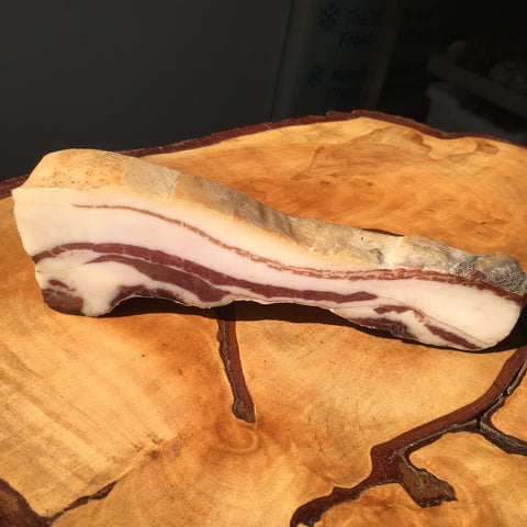 MANGALITSA SMOKED PANCETTA - As used by Chef James Martin - 100g pre sliced package & 500g  piece whole piece