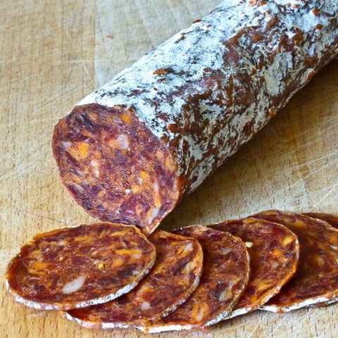 SPICY CHORIZO - Available 350 g whole stick and 150g half stick