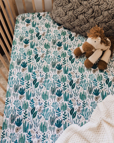 Snuggle Hunny Fitted Cot Sheet - Arizona