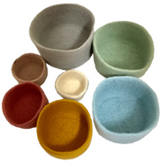 Papoose Earth Nested Bowl Set - 7 pcs