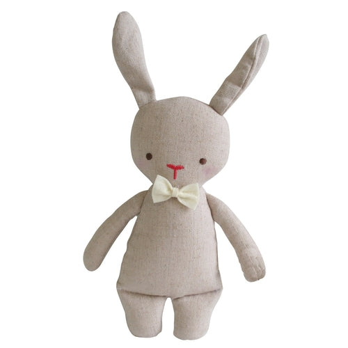 Alimrose Linen Mini Bunny Rattle 18cm-Jack & Willow