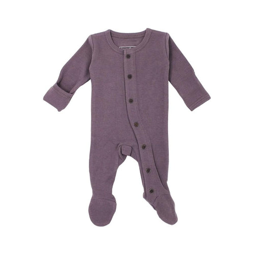 L'oved Baby Organic Ameythyst Thermal Footed Overall-Jack & Willow