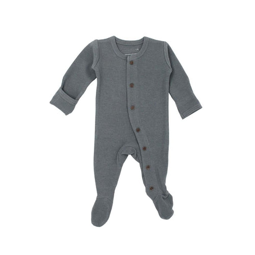 L'oved Baby Graphite Thermal Footed Overall (LATE MARCH PRE-ORDER)-Jack & Willow