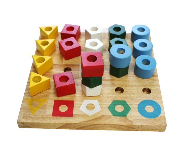 Q Toys Stacking Pegs Puzzle