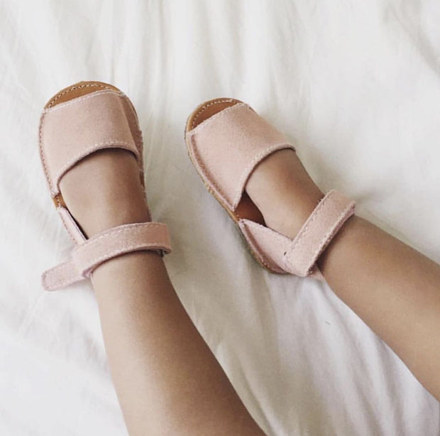 Hubble & Duke Barcelona Sandals - Dusty Pink Suede