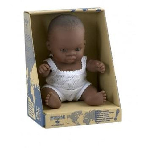 Miniland Baby Doll African Boy - 21cm-Jack & Willow