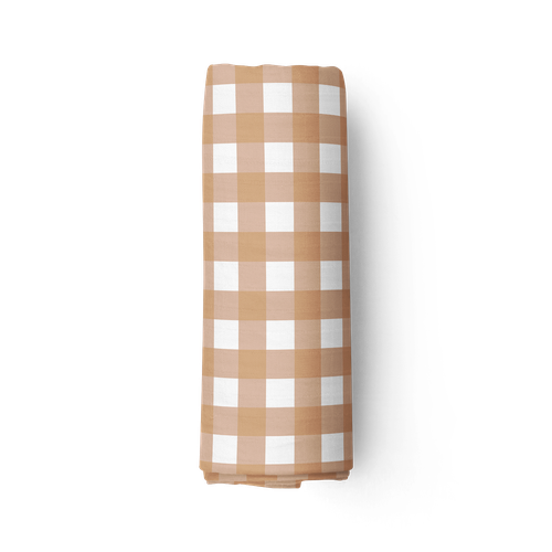 Piper Bug Bamboo Swaddle - Gingham-Jack & Willow