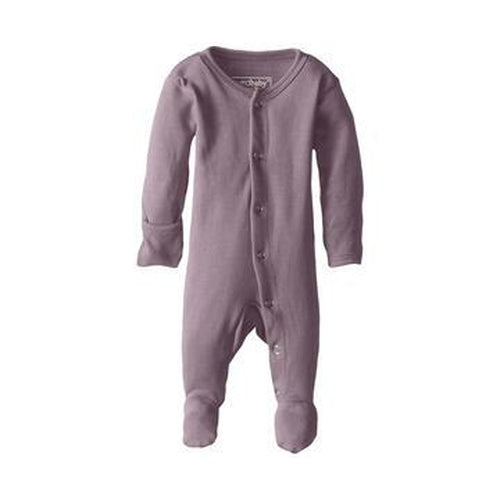 L'oved Baby Long Sleeve Footed Overall Growsuit - Lavender (EARLY AUGUST PRE-ORDER)-Jack & Willow