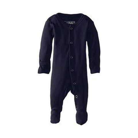 L'oved Baby Organic Footed Overall Growsuit - Navy-Jack & Willow