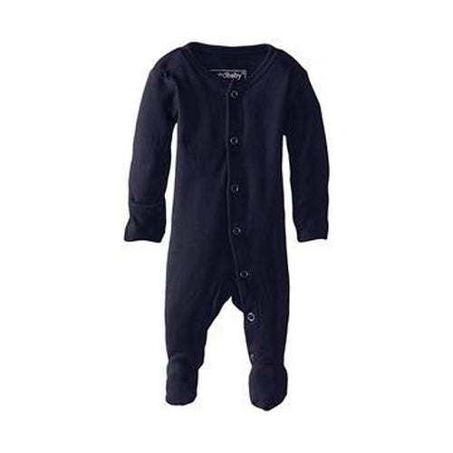 L'oved Baby Footed Overall Growsuit - Navy-Jack & Willow