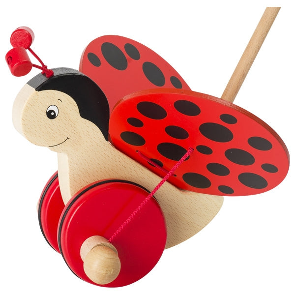Goki Push Along Ladybird