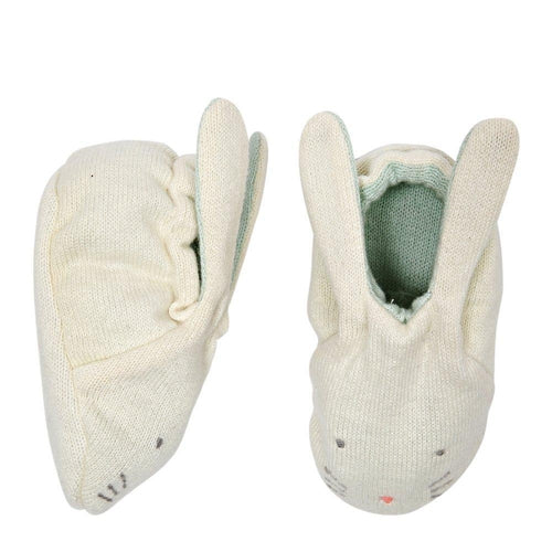 Meri Meri Organic Bunny Baby Booties - Mint-Jack & Willow