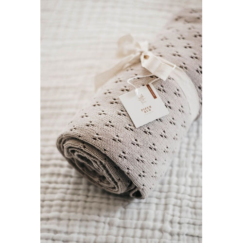 Piper Bug Heritage Knit Blanket - Taupe-Jack & Willow
