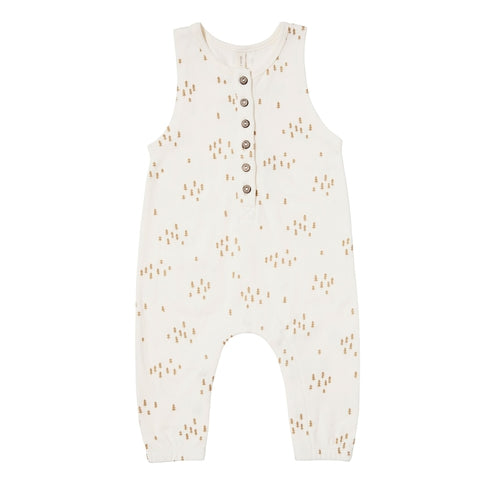Quincy Mae Sleeveless Jumpsuit - Ivory Trees-Jack & Willow