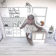 These Little Treasures Pop Up Doll House Grey-Jack & Willow