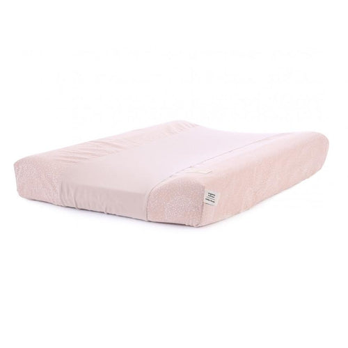 Nobodinoz Changing Mat Cover - Calma White Bubble / Misty Pink-Jack & Willow