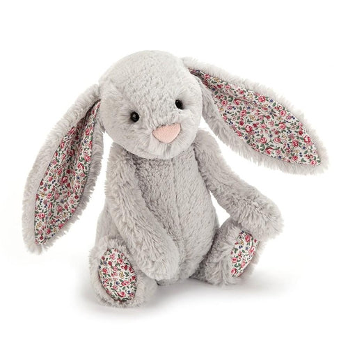 Jellycat Blossom Bashful Bunny Silver Grey Small (18cm)-Jack & Willow
