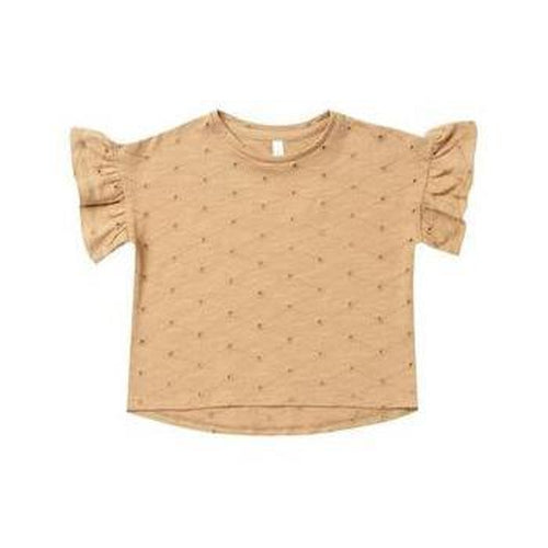 Rylee & Cru Eyelet Flutter Tee - Honey-Jack & Willow