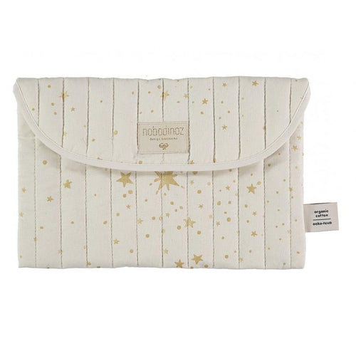 Nobodinoz Travel Nappy Pouch - Bagatelle Gold Stellar / Natural-Jack & Willow
