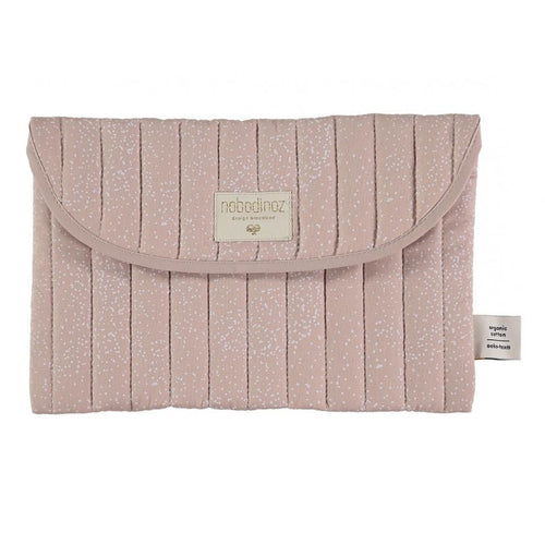 Nobodinoz Travel Nappy Pouch - Bagatelle White Bubble / Misty Pink-Jack & Willow