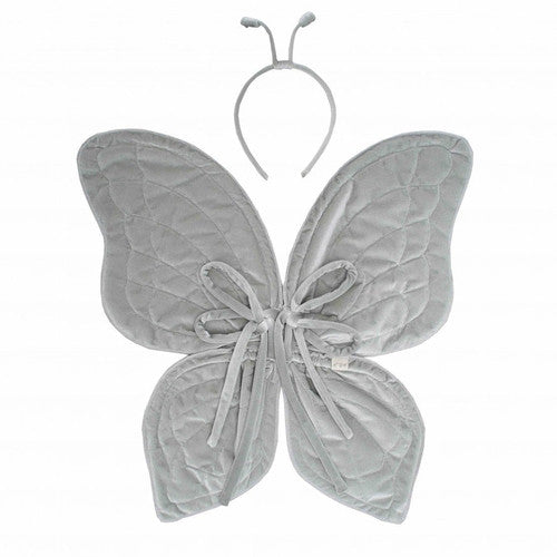 Numero 74 Butterfly Wings - Silver Grey Velvet-Jack & Willow