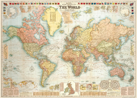 Cavallini Vintage Poster - World Map