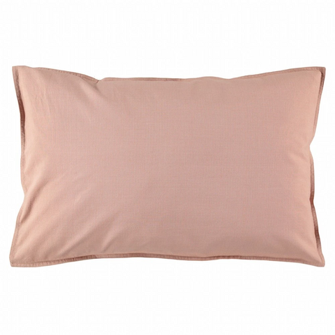 Camomile London Mini Check Pillowcase - Coral