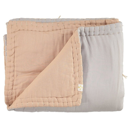 Camomile London Reversible Quilt - Peach Blossom / Ash (SEPT PRE-ORDER)-Jack & Willow