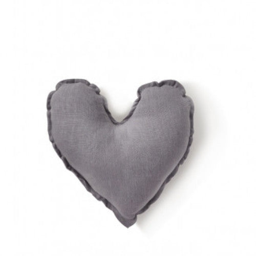 Nana Huchy Heart Cushion - Dove Grey 25cm-Jack & Willow