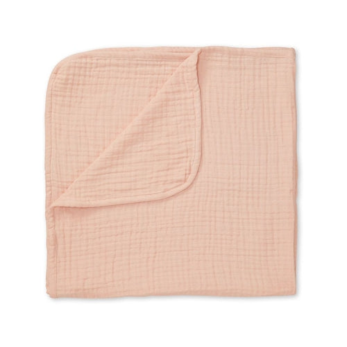 Cam Cam Thick Muslin Blanket - 4 Layer Blush-Jack & Willow