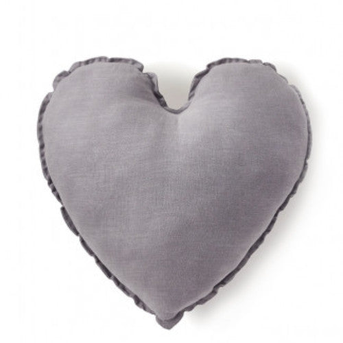 Nana Huchy Heart Cushion - Dove Grey 45cm-Jack & Willow