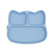 We Might Be Tiny Cat Stickie Plate - Powder Blue