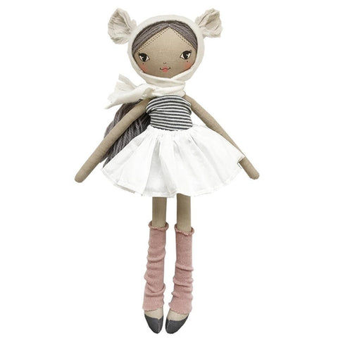 These Little Treasures Lola Doll Teddy - Coffee / Heather 45cm-Jack & Willow