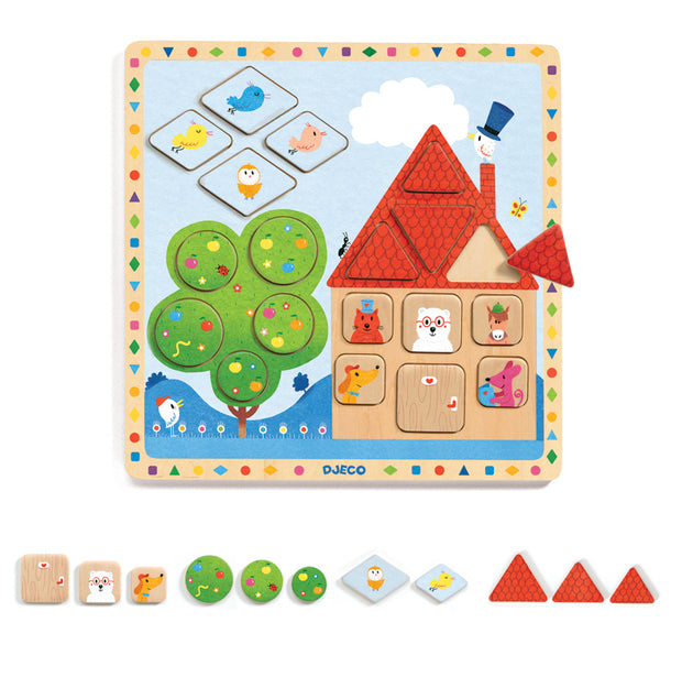 Djeco Wooden Shapes Puzzle