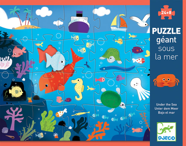 Djeco Giant Puzzle - Under the Sea 32 pcs