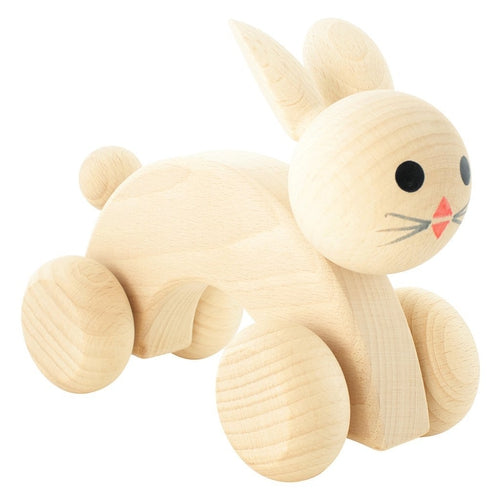 Miva Vacov Wooden Push Along Rabbit - Ace-Jack & Willow
