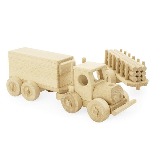 Ceeda Cavity Wooden Truck & Trailer Set - Rory-Jack & Willow